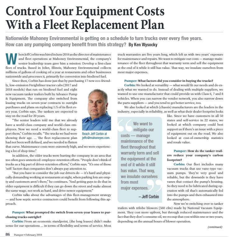 Control Your Equipment Costs With A Fleet Replacement Plan